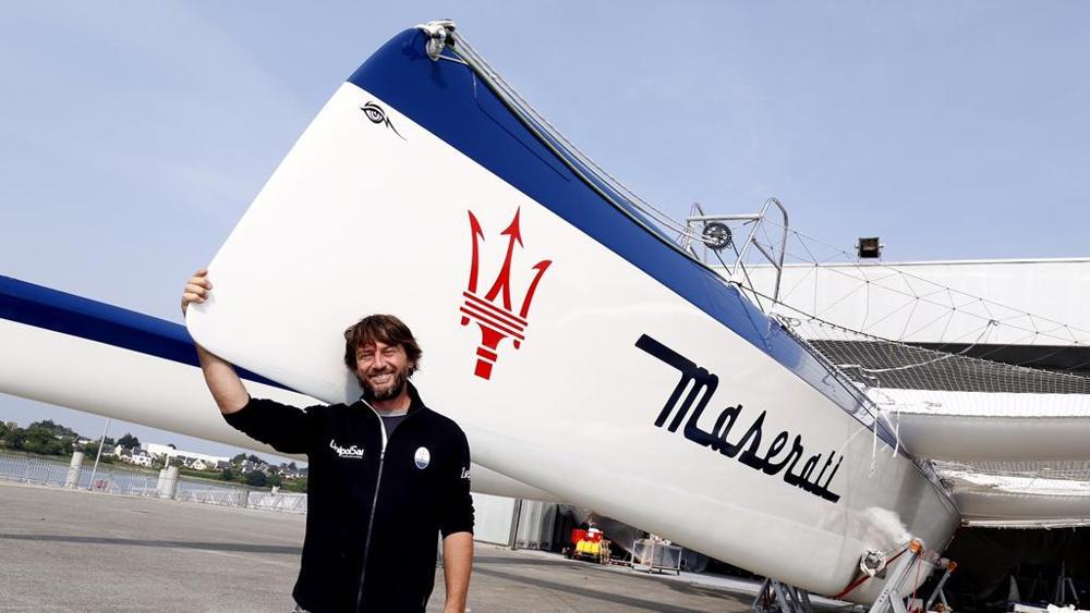 Giovanni Soldini e Maserati Multi 70: arrivati nella Manica