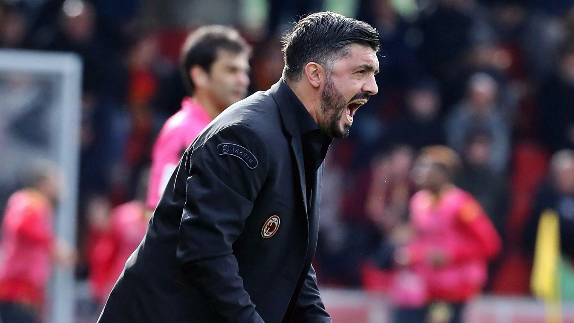 """Calcio, Milan-Barcellona 1-0. Gattuso: """"Ok vittoria ma è passo indietro"""""""
