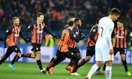Roma ribaltata in Ucraina, 2-1 per lo Shakhtar