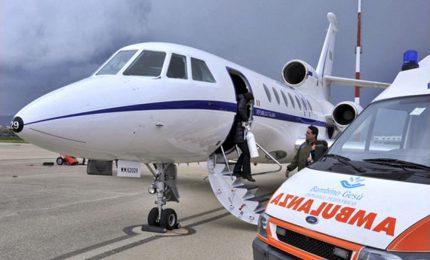 Quattordicenne imminente pericolo di vita trasportata aereo Marina Militare