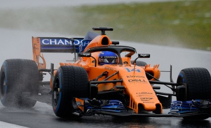 Test in ostaggio Burian, solo Alonso marca tempo