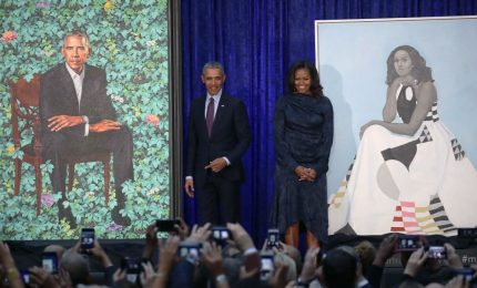 I ritratti ufficiali di Barack e Michelle Obama a Washington