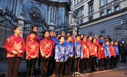 Coro di bambini italo-asiatico per il Capodanno cinese a Napoli