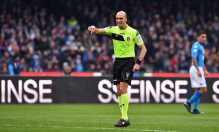 Arbitri: Fabbri per Crotone-Juve, Napoli-Udinese a Calvarese