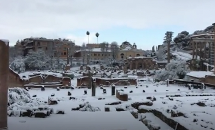 Gianicolo e Trastevere: cartoline da Roma imbiancata