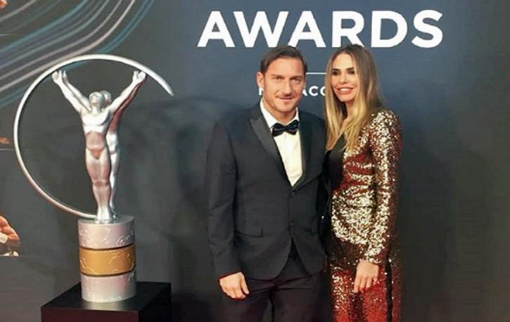 Laureus Awards di Montecarlo, a Totti premio alla carriera