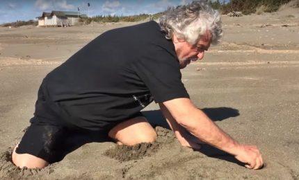 Beppe Grillo dà i numeri per un futuro governo in spiaggia