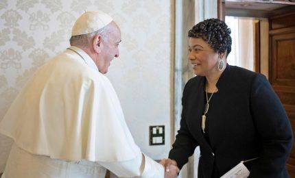 Papa Franceso ha ricveuto la figlia di Martin Luther King