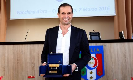 Panchina d'oro 2016-2017 a Massimiliano Allegri