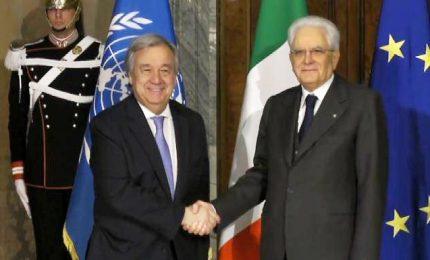 Mattarella riceve il segretario generale dell'Onu Guterres