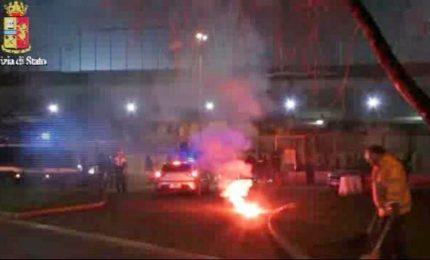 Scontri ultras Vicenza-Padova, le immagini della guerriglia