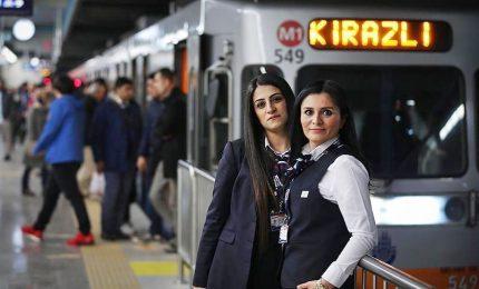 Ritratti di donne: l'autista di metropolitana a Istanbul