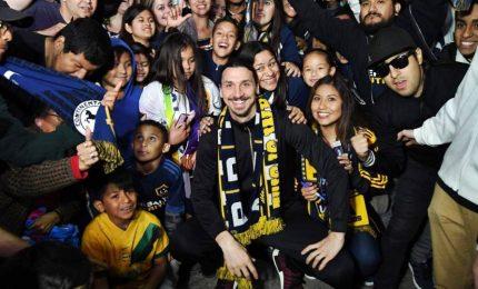 Accoglienza da star per Zlatan Ibrahimovic a Los Angeles