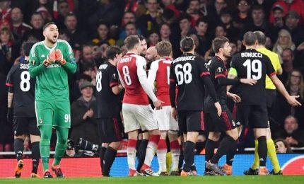 Europa League: Arsenal ai quarti, rabbia Milan per rigore