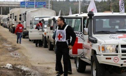 Siria, convoglio aiuti Onu arrivato nella Ghouta orientale