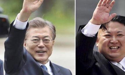 Coree, vertice tra i due leader il prossimo 27 aprile