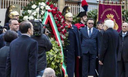 Moro, Mattarella inaugura monumento in via Fani