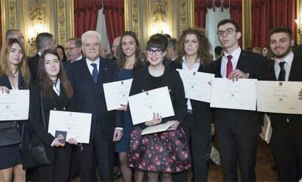Mattarella riceve i giovani Alfieri della Repubblica