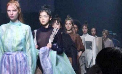 Modelle in kimono, Tokyo Fashion Week nel segno della tradizione