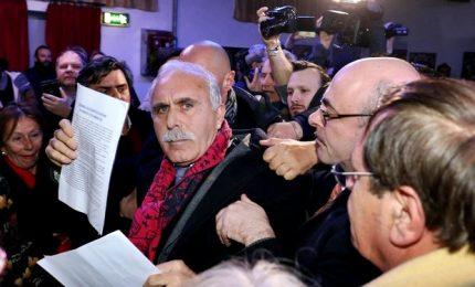 """Il generale Pappalardo al comizio di Boldrini: """"Ti arresto"""""""