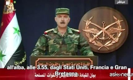 """Esercito siriano annuncia: """"Oltre 100 missili su di noi"""""""