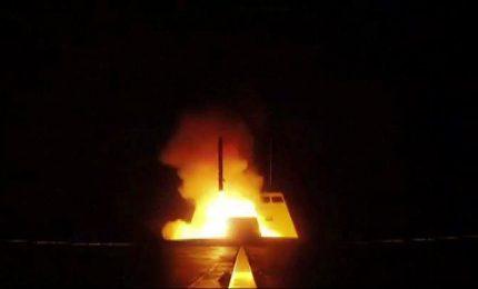 Siria, momento in cui i francesi lanciano il missile