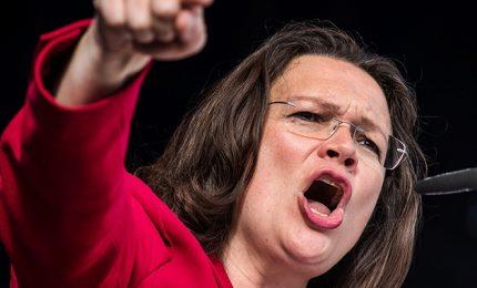La Spd elegge Andrea Nehles, prima donna alla guida del partito
