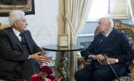 Consultazioni, Napolitano mezz'ora da Mattarella