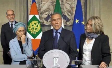 Grasso: no con il centrodestra, sì con M5S. Bonino: onere di governare a chi ha vinto