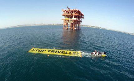 """Azione di Greenpeace nell'Adriatico: """"Stop Trivelle"""""""