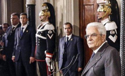 """Mattarella: """"Governo neutrale fino a dicembre, poi elezioni"""""""