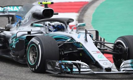 La Mercedes torna in pista, Bottas gira a Silverstone