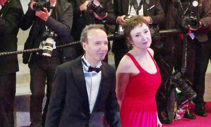 Cannes, la coppia Benigni-Braschi sul red carpet per Garrone