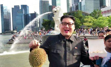 """Kim Jong Un a Singapore, ma è un imitatore: """"Donald ti aspetto"""""""