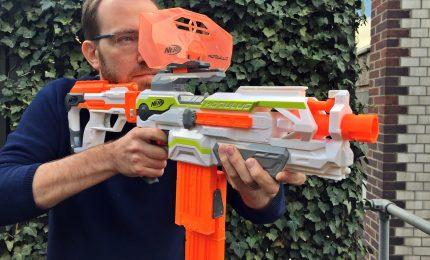 Gli adrenalinici blaster Nerf nel tour multisport Mi Games