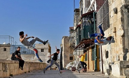 Il parkour dei ragazzi di Aleppo, Siria