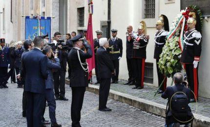 Omaggio a Aldo Moro, Sergio Mattarella in via Caetani