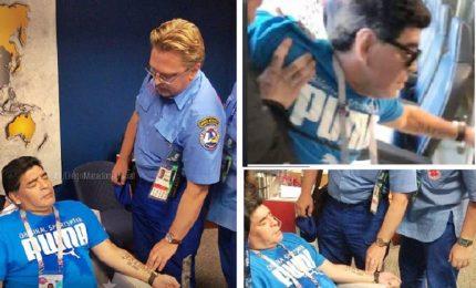 "Maradona, entusiasmo e malore e poi posta: ""Sto bene"""