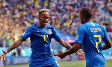 Il Brasile batte il Costa Rica 2-0, ma quanta fatica