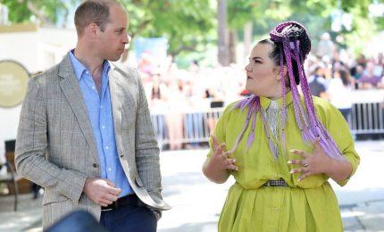 William incontra la cantante Netta Barzilai, l'israeliana vincitrice dell'Eurovisione
