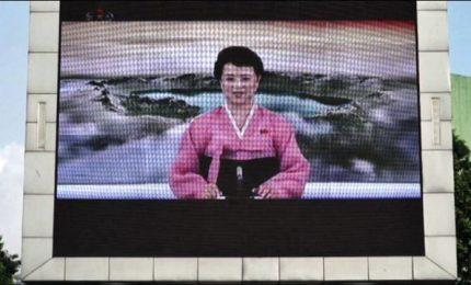 Summit Trump-Kim, a Pyongyang un maxi schermo