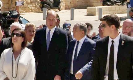 William in Israele visita Yed Vashem, il Memoriale Shoah