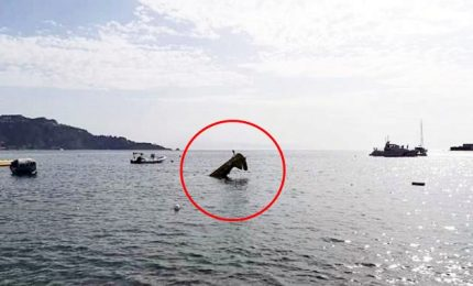 Precipita aereo monoposto a Giardini Naxos, salvo il pilota