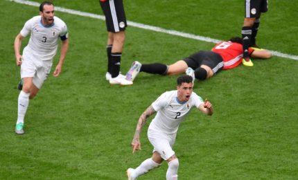 L'Uruguay sfonda il muro dell'Egitto: 1-0 al 90'