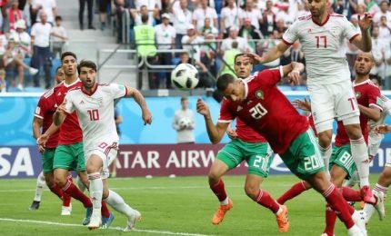 L'Iran supera il Maracco al 95' con una autorete
