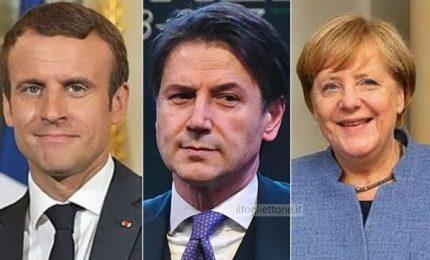 Conte al telefono con Merkel e Macron: piena disponibilità' a collaborare