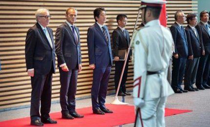 Ue e Giappone firmano storico accordo libero scambio, vale un terzo del Pil globale