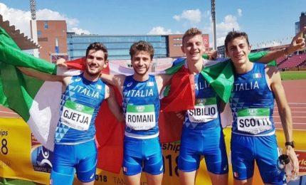 Italia campione del mondo U20 con la staffetta 4x400
