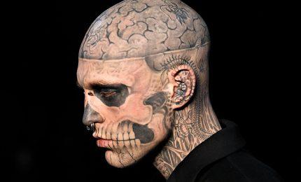 Morto suicida Rick Genest, lo Zombie Boy famoso con Lady Gaga