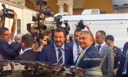 Salvini accoglie Orban alla prefettura di Milano